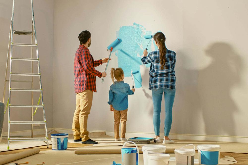 pintar la casa en primavera